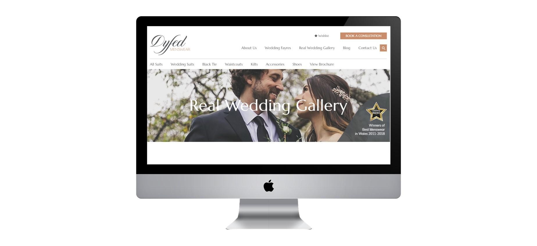 Dyfed Menswear gallery page.