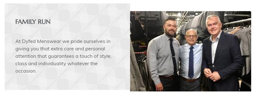 Dyfed Menswear website pattern